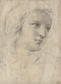 """Tiedosto:""""Head of a muse"""" by Raffaello Sanzio.png"""