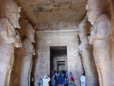 Abu Simbel, Aswan - Temple of Ramses II - Dedicated to the three deities, Ra, Amon and Ptah. On March 21 and September 21, the sun´s rays enter the temple and illuminate the gods Ra and Amon, while Ptah, god of darkness, remains in darkness.