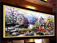 YGS-32 DIY 5D Diamond Mosaic Landscapes Garden lodge Full Diamond Painting Cross Stitch Kits Diamonds Embroidery Home Decoration zhuanshihua Made in China
