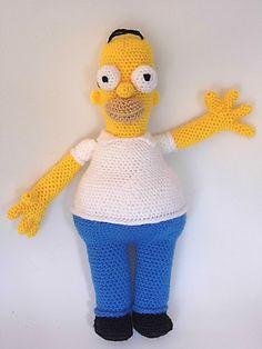 Patrón Homer Simpson | Sueños Blanditos - Patrones Amigurumi