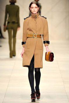 Burberry Prorsum FW 11. Camel coat, simple and classy.