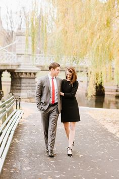 Classic Christmas Engagement Session in Beacon Hill & Boston Public Garden by Boston Wedding Photographer Annmarie Swift