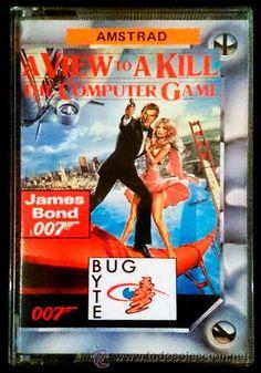 Juego Amstrad CPC Cinta - A View to A Kill / Panorama para Matar (1988)