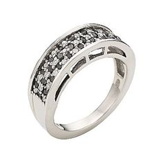 1/2 CT. T.W. Genuine Black & White Diamond Ring - jcpenney
