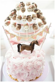 Pink and Brown Pony Themed Birthday Party via KarasPartyIdeas.com! #PonyParty #PartyIdeas #PinkAndBrown #GirlPartyIdeas #PartyDecor (1)