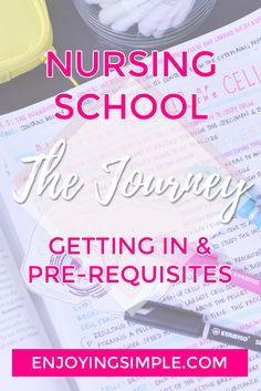My Nursing school journey started this fall term, and I'm sharing some tips on how to get in and planning out pre-requisite courses. Nursing School Scholarships, Online Nursing Schools, Nursing School Notes, Nursing Students, Nursing Study Tips, Nursing Books, Nursing Career, Nursing School Requirements, Nursing School Motivation