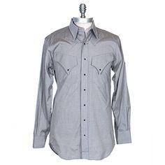 Men's Schaefer Western Graphite Taos Shirt at Maverick Western Wear