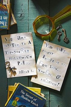 Let tenacious teen detective Nancy Drew help you uncover the secrets to a magnificent mystery-themed meetup, with magnifying glass cookies, magazine-letter cutout invites, and campy detective decor. Get our ideas for a Nancy Drew-themed Halloween party.