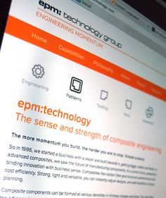 Icon design as part of website development project for EPM technology.