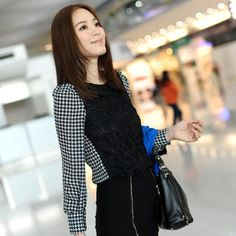Buy '59th Street – Crochet Panel Houndstooth Blouse' with Free Shipping at YesStyle.co.uk. Browse and shop for thousands of Asian fashion items from Hong Kong and more!