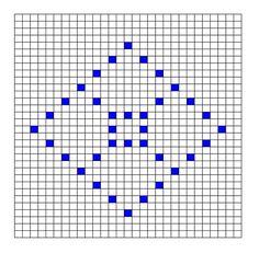 Ravelry: Diamond Bobble Chart by Kari Philpott