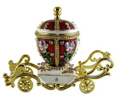 Faberge Egg - Cinderella's Red Carriage