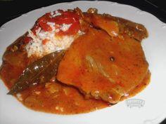 Vepřové maso po cikánsku Benefit, Food And Drink, Chicken, Meat, Recipies, Cubs