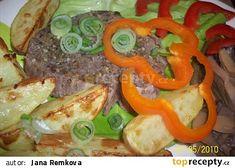 Hovězí steak (Parní hrnec) recept - TopRecepty.cz Stuffed Peppers, Vegetables, Food, Stuffed Pepper, Veggies, Essen, Vegetable Recipes, Yemek, Stuffed Sweet Peppers