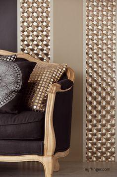 Venue behang van Eijffinger wallpaper #interior #wallpaper #metallic meer op www.benedict.be