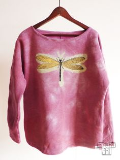 DragonFly limited collection Hand colored, bleached and hand screenprinted