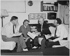 Secretary of State James Byrnes consults with advisors in preparation for the Potsdam Conference in Germany. L to R... - NARA - 198748 - Charles E. Bohlen - Wikipedia Potsdam Conference, Us Department Of State, Joseph Stalin, Harry Truman, Learn Russian, Cornell University, Foreign Policy, Us Presidents