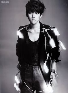 EXO K in L'Officiel Hommes - Baekhyun. Click through for more pics.