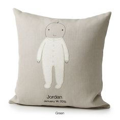 cute. PERSONALIZED BABY PILLOW | stitched art, sew, embroidered baby | UncommonGoods