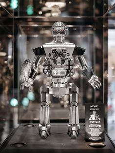 The Balthazar clock by MB&F and L'Épée 1839 weighs stands tall, and has 618 micro-engineered components. Swiss Watch Brands, Clock, Industrial, Watches, Luxury, Creative, Watch, Wristwatches, Industrial Music