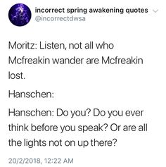 I don't necessarily get the joke with the 'mc' but hanschen's response is so funny that it's okay LOL