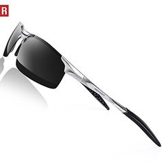 cfe3734482 ROCKNIGHT Driving Polarized Sunglasses For Men UV Protection HD Glasses  Ultra Lightweight Al-Mg Metal Outdoor Sports Boating Biking Sunglasses  Rimless any ...