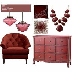 Möbel lackieren - Marsala Trendfarbe 2015 - http://freshideen.com/wohnideen/mobel-lackieren.html