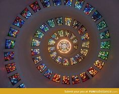The ceiling on this chapel