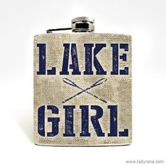 Lake Girl Hip Flask 6oz Flask Stainless Steel Hip Flask Lake Life Womens Camping Flask