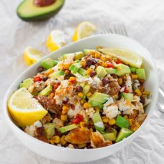 These spicy fish taco bowls are comfort food at its finest with a healthier twist. Fresh spicy tilapia fillets, corn, black beans, red peppers and avocados.