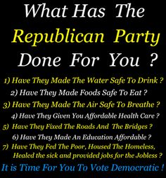 What has the Republican Party Done for You?