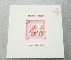 Your place to buy and sell all things handmade Twin Girls, Twin Babies, Twins, Personalised Frames, Handmade Frames, How To Make Notes, Bows, Messages, Crystals
