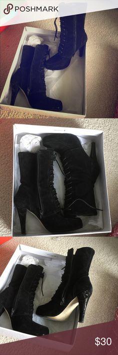 Selling this Genuine black leather Suede on Poshmark! My username is: arksweet. #shopmycloset #poshmark #fashion #shopping #style #forsale #Nine West #Shoes