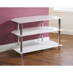 Amore Corner TV Unit 3 Shelf White