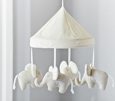 Elephant crib mobile from Pottery Barn Kids. #potterybarnkids #spring2014