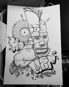 Homer Simpsons fan art, drawing, illustration, donut Homer Simpson, Octopus, Fan Art, Drawings, Illustration, Fictional Characters, Sketches, Illustrations, Calamari
