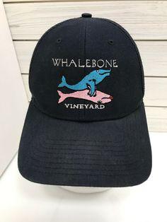b8eb2495ab7fb Whalebone Vineyard Winery California Pink Blue Whale Trucker Mesh Hat  Snapback  Richardson  TruckerHat