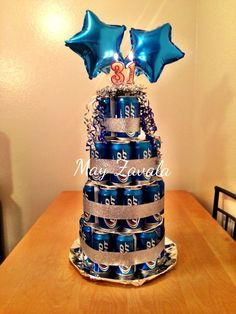 Beer Cake! Made this beer cake for my hubby! He loved it #budlight #beercake #giftforhim