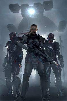 Futuristic Warrior Art | pro reo by iamuman, future war, futuristic vehicle, cyberpunk, future ...