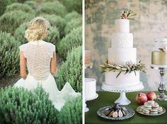 Green wedding details via Coastal Bride