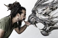 Incredible Animal Masks Made From Hammered Steel (54 pieces)