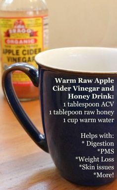 Apple Cider Vinegar and Raw Honey: This Warm Drink has Amazing Health Benefits! - Health, Home, & Happiness Apple Cider Vinegar and Raw Honey: This Warm Drink has Amazing Health Benefits! Apple Cider Vinegar Remedies, Raw Apple Cider Vinegar, Vinegar And Honey, Raw Vinegar, Vinegar Diet, Apple Cider And Honey, Apple Coder Vinegar Drink, Healthy Smoothie, Healthy Drinks