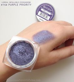 Hi beauties! I wasn't planning on doing a post today but then I got this stunning Loreal Infallible Eyeshadow in Purple Priority and I had to pop in and share it with you guys. Honestly, I've been a huge fan of the Infallible eyeshadow line since they were released and they keep rolling them out … Makeup 101, Glam Makeup, Kiss Makeup, Makeup Cosmetics, Hair Makeup, Eye Makeup, Beauty Makeup, Makeup Inspo, Makeup Brushes