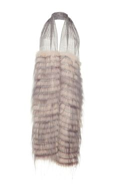 This **Agnona** scarf features fox and kidassia fur panels.