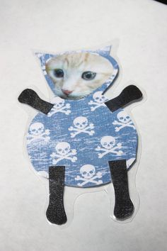 cats in skulls are cool by kittykittycupcake on Etsy, $5.00