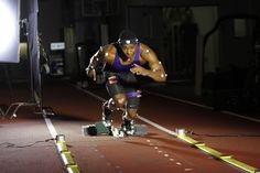 Tech Take At Ces: #Helping #Athletes 'see' #Motion In A New Way  The effect of the wearable that is used for the judging the speed of the athlete and the motion sensor detects when the athlete is in motion.