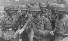 German paratroopers after the Battle of Fort Eben-Emael, where the Nazi forces were successful in seizing the fort from its Belgian defenders in a decisive battle in which German airborne troops...
