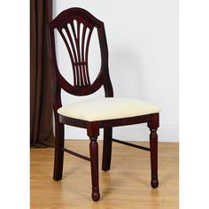 This chair will be a topic of conversation for years to come. With its beautiful mahogany and walnut finish, this will turn the heads of those around you as they admire its beauty and beautiful craftsmanship.