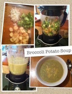Making healthy broccoli and potato soup in the soup maker. Cube Steak Recipes, Diet Soup Recipes, Cooking Recipes, Healthy Recipes, Healthy Soups, Vitamix Recipes, Dinner Recipes, Broccoli Potato Soup, Vegan Potato Soup