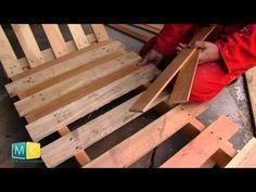 Chaise longue palette, faire soi même un bain de soleil en palette - YouTube